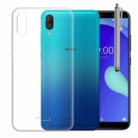 """Wiko Y80 5.99"""" [Les Dimensions EXACTES du telephone: 160 x 76.5 x 8.55 mm]: Accessoire Housse Etui Coque gel UltraSlim et Ajustement parfait + Stylet - TRANSPARENT"""