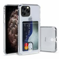 """Apple iPhone 11 Pro Max 6.5"""" A2218 A2161 A2220 (non compatible iPhone 11 6.1""""/ iPhone 11 Pro 5.8""""): TPU Coque de Protection Antichoc Transparente comme Cristal avec ID fente porte-carte de crédit couverture souple - TRANSPARENT"""