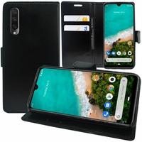 """Xiaomi Mi A3 6.01"""" 1906F9S [Les Dimensions EXACTES du telephone: 153.5 x 71.9 x 8.5 mm]: Accessoire Etui portefeuille Livre Housse Coque Pochette support vidéo cuir PU - NOIR"""