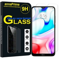 "Xiaomi Redmi 8 6.22"" M1908C3IC MZB8255IN [Les Dimensions EXACTES du telephone: 156.5 x 75.4 x 9.4 mm]: 1 Film de protection d'écran Verre Trempé"
