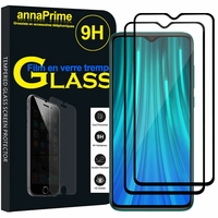 "Xiaomi Redmi Note 8 Pro 6.53"" 2015105, M1906G7I (non compatible Xiaomi Redmi Note 8 6.3""): Lot / Pack de 2 Films de protection d'écran Verre Trempé"