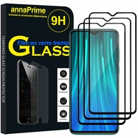 "Xiaomi Redmi Note 8 Pro 6.53"" 2015105, M1906G7I (non compatible Xiaomi Redmi Note 8 6.3""): Lot / Pack de 3 Films de protection d'écran Verre Trempé"