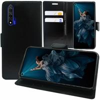 """Huawei Honor 20/ Huawei nova 5T 6.26"""" YAL-L21 YAL-AL00 YAL-TL00 (non compatible Huawei Honor 20 Lite 6.21""""/ Honor 20i 6.21""""/ Honor View 20 6.4""""): Accessoire Etui portefeuille Livre Housse Coque Pochette support vidéo cuir PU - NOIR"""