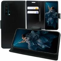 """Huawei Honor 20 Pro 6.26"""" YAL-AL10 YAL-TL10 (non compatible Huawei Honor 20 Lite 6.21""""/ Honor View 20 6.4""""): Accessoire Etui portefeuille Livre Housse Coque Pochette support vidéo cuir PU - NOIR"""