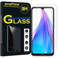 "Xiaomi Redmi Note 8T 6.3"" (non compatible Xiaomi Redmi Note 8 Pro 6.53""): 1 Film de protection d'écran Verre Trempé"