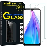 "Xiaomi Redmi Note 8T 6.3"" (non compatible Xiaomi Redmi Note 8 Pro 6.53""): Lot / Pack de 3 Films de protection d'écran Verre Trempé"