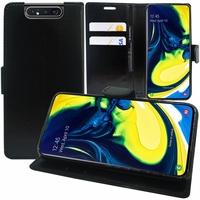 """Samsung Galaxy A80/ A90 6.7"""" SM-A805F/ A805X/ A805XC/ A805N/ A805F/DS/ A805F/DSM: Accessoire Etui portefeuille Livre Housse Coque Pochette support vidéo cuir PU - NOIR"""