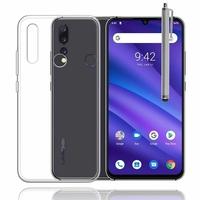 """UMIDIGI A5 PRO 6.3"""" [Les Dimensions EXACTES du telephone: 156 x 75.9 x 8.2 mm]: Accessoire Housse Etui Coque gel UltraSlim et Ajustement parfait + Stylet - TRANSPARENT"""