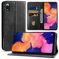 """Samsung Galaxy A10 6.2"""" SM-A105F/ A105F/DS [Les Dimensions EXACTES du telephone: 155.6 x 75.6 x 7.9 mm]: Housse Portefeuille en Cuir PU Fermeture Magnétique (sans clapet) - NOIR"""