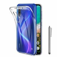 """Xiaomi Mi A3 6.01"""" 1906F9S [Les Dimensions EXACTES du telephone: 153.5 x 71.9 x 8.5 mm]: Accessoire Housse Etui Coque gel UltraSlim et Ajustement parfait + Stylet - TRANSPARENT"""