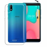 """Wiko Y60 5.45"""" [Les Dimensions EXACTES du telephone: 146.8 x 71.8 x 9.3 mm]: Accessoire Housse Etui Coque gel UltraSlim et Ajustement parfait + mini Stylet - TRANSPARENT"""
