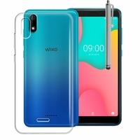 """Wiko Y60 5.45"""" [Les Dimensions EXACTES du telephone: 146.8 x 71.8 x 9.3 mm]: Accessoire Housse Etui Coque gel UltraSlim et Ajustement parfait + Stylet - TRANSPARENT"""