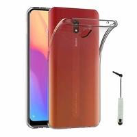 """Xiaomi Redmi 8A 6.2"""" [Les Dimensions EXACTES du telephone: 156.5 x 75.4 x 9.4 mm]: Accessoire Housse Etui Coque gel UltraSlim et Ajustement parfait + mini Stylet - TRANSPARENT"""