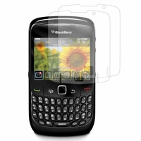Blackberry Curve 8520/ Curve 3G 9300: Lot / Pack de 2x Films de protection d'écran clear transparent
