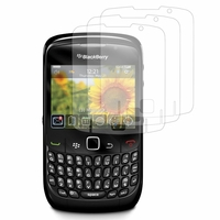 Blackberry Curve 8520/ Curve 3G 9300: Lot / Pack de 3x Films de protection d'écran clear transparent