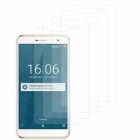 """DOOGEE F7 4G LTE 5.5"""" (non compatible Doogee F7 Pro 5.7""""): Lot / Pack de 5x Films de protection d'écran clear transparent"""