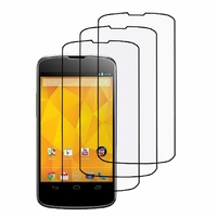 Google Nexus 4 E960/ Mako: Lot / Pack de 3x Films de protection d'écran clear transparent
