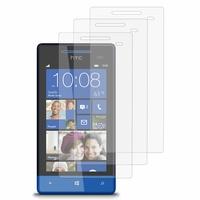 HTC Windows Phone 8S: Lot / Pack de 3x Films de protection d'écran clear transparent