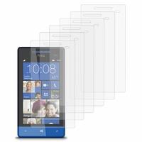 HTC Windows Phone 8S: Lot / Pack de 6x Films de protection d'écran clear transparent
