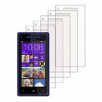 HTC Windows Phone 8X: Lot / Pack de 5x Films de protection d'écran clear transparent