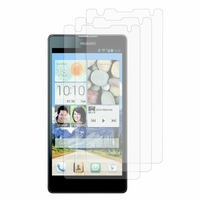 Huawei Ascend G740/ Orange Yumo: Lot / Pack de 3x Films de protection d'écran clear transparent