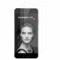 "Huawei P10 5.1"" (non compatible Huawei P10 Plus/ P10 Lite): Lot / Pack de 2x Films de protection d'écran clear transparent"
