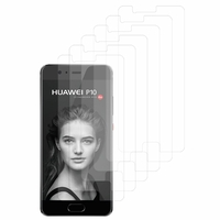 "Huawei P10 5.1"" (non compatible Huawei P10 Plus/ P10 Lite): Lot / Pack de 6x Films de protection d'écran clear transparent"