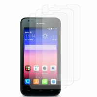 Huawei Ascend Y550: Lot / Pack de 3x Films de protection d'écran clear transparent