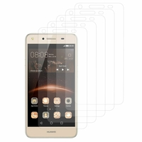 Huawei Y5II/ Y5 2/ Honor 5/ Honor Play 5/ Honor 5 Play: Lot / Pack de 5x Films de protection d'écran clear transparent