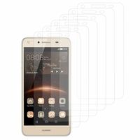 Huawei Y5II/ Y5 2/ Honor 5/ Honor Play 5/ Honor 5 Play: Lot / Pack de 6x Films de protection d'écran clear transparent