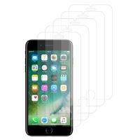"""Apple iPhone 7 Plus 5.5"""" (non compatible iPhone 7 4.7''): Lot / Pack de 5x Films de protection d'écran clear transparent"""