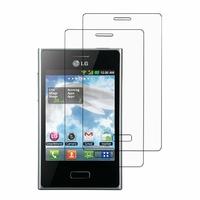 LG Optimus L3 E400: Lot / Pack de 2x Films de protection d'écran clear transparent