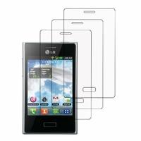LG Optimus L3 E400: Lot / Pack de 3x Films de protection d'écran clear transparent