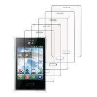 LG Optimus L3 E400: Lot / Pack de 5x Films de protection d'écran clear transparent