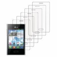 LG Optimus L3 E400: Lot / Pack de 6x Films de protection d'écran clear transparent