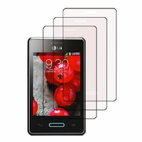 LG Optimus L3 II E430/ E425/ E435 Dual Sim: Lot / Pack de 3x Films de protection d'écran clear transparent