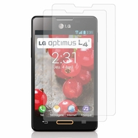 LG Optimus L4 II E440: Lot / Pack de 2x Films de protection d'écran clear transparent