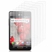 LG Optimus L4 II E440: Lot / Pack de 5x Films de protection d'écran clear transparent