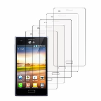 LG Optimus L5 E610/ E612/ E615 Dual Sim: Lot / Pack de 5x Films de protection d'écran clear transparent