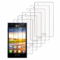 LG Optimus L5 E610/ E612/ E615 Dual Sim: Lot / Pack de 6x Films de protection d'écran clear transparent