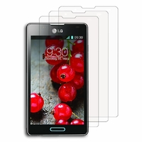 LG Optimus L7 II P710/ L7X P714: Lot / Pack de 3x Films de protection d'écran clear transparent