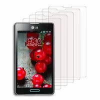 LG Optimus L7 II P710/ L7X P714: Lot / Pack de 5x Films de protection d'écran clear transparent