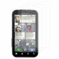 Motorola Defy MB525: Lot / Pack de 3x Films de protection d'écran clear transparent
