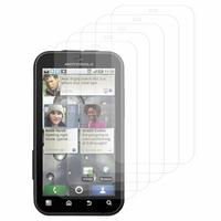 Motorola Defy MB525: Lot / Pack de 5x Films de protection d'écran clear transparent