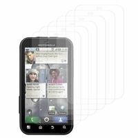 Motorola Defy MB525: Lot / Pack de 6x Films de protection d'écran clear transparent