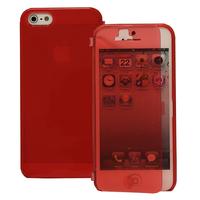 Apple iPhone 5/ 5S/ SE: Accessoire Coque Etui Housse Pochette silicone gel Portefeuille Livre rabat - ROUGE