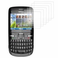 Nokia C3: Lot / Pack de 6x Films de protection d'écran clear transparent