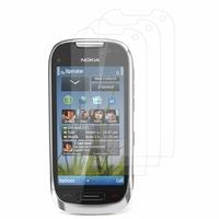 Nokia C7: Lot / Pack de 3x Films de protection d'écran clear transparent