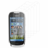 Nokia C7: Lot / Pack de 5x Films de protection d'écran clear transparent