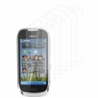 Nokia C7: Lot / Pack de 6x Films de protection d'écran clear transparent